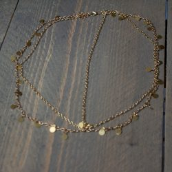 Bohemien haarketting rond