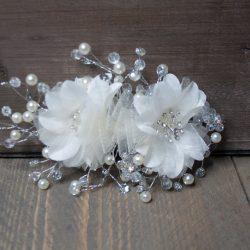 Haarstuk bloem parel