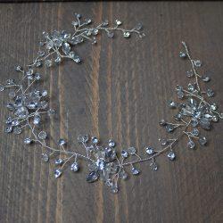 Haarband met strass bloemen