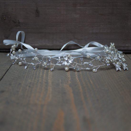 hangemaakte zilveren haarband