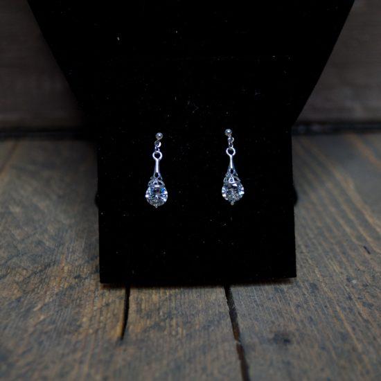 Set ketting/oorbellen kristal glitter