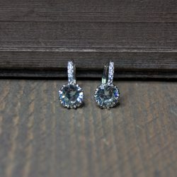 zilver kristallen oorbellen