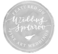 wedding sparrow badge grey Home