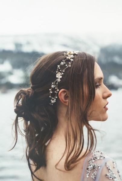 goudkleurige haarband