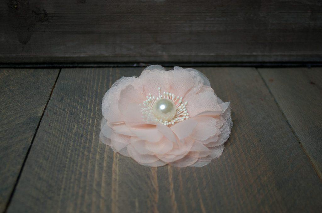 Haarclip bloem roze