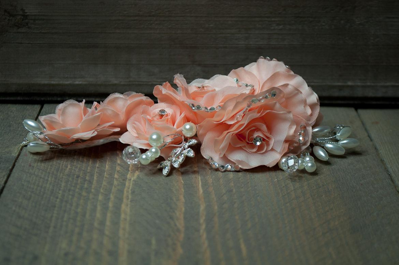 Haarstuk bloem roze