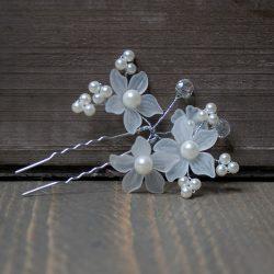 Steekspeld bloem parel