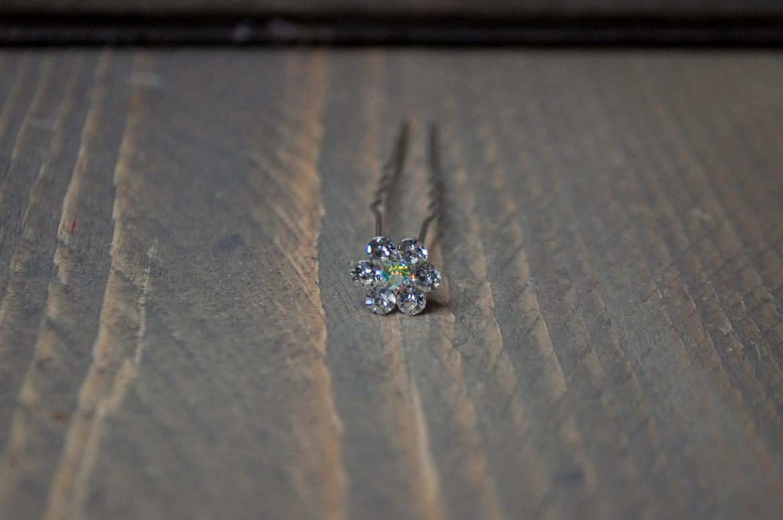 Steekspeld kristal bloem