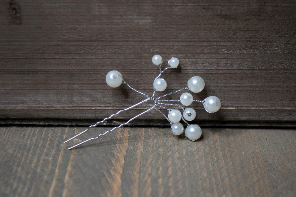 Steekspeld witte parels