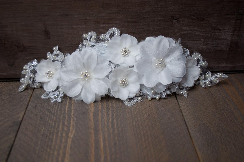 Vintage bloemen haarstuk
