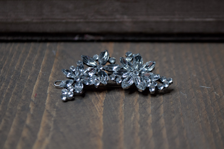 mini haarclip kristal