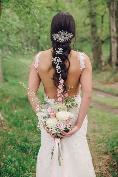 Romantische glitter haarband