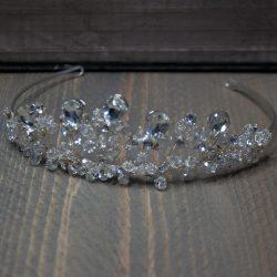 tiara met strass en glittersteentjes