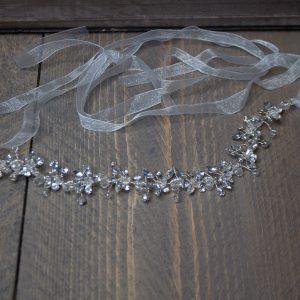 haarband met strass en glitterstenen
