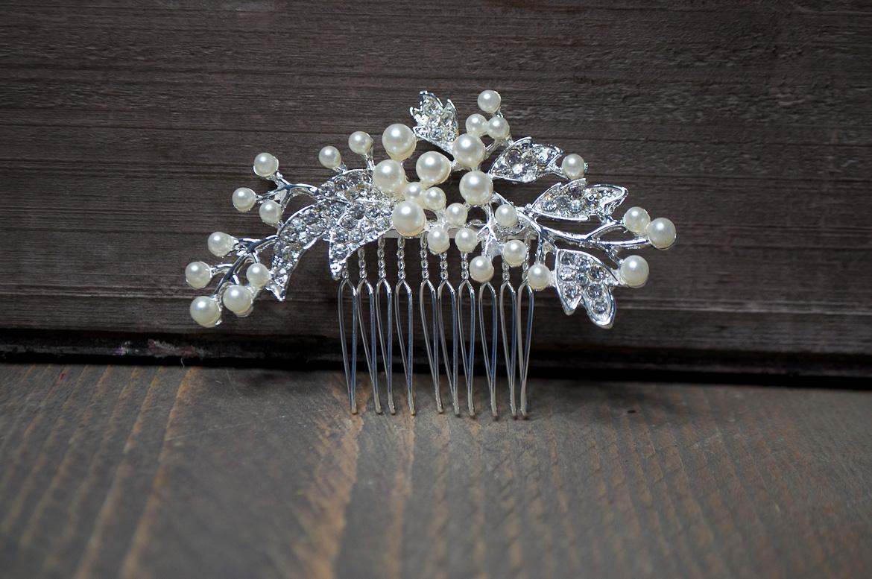 vintage haarkam met parels