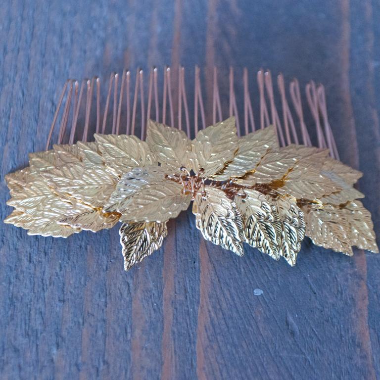 Haarkam Goud blad